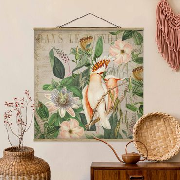 Foto su tessuto da parete con bastone - Coloniale Collage - Galah - Quadrato 1:1