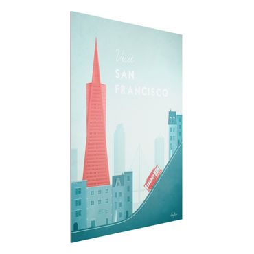 Stampa su alluminio - Poster Travel - San Francisco - Verticale 4:3