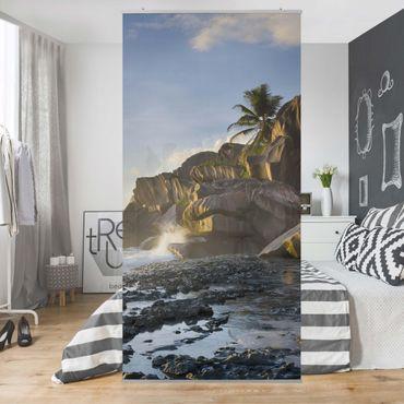 Tenda a pannello - Sunset on the island paradise 250x120cm