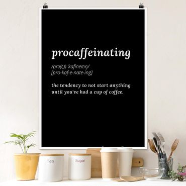 Poster - Procaffeinating - Verticale 4:3