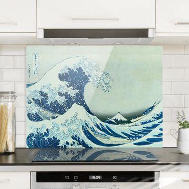 Spritzschutz Glas - Katsushika Hokusai - Die grosse Welle von Kanagawa - Querformat 3:4