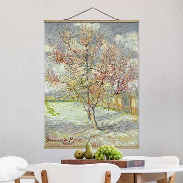 Foto su tessuto da parete con bastone - Vincent Van Gogh - Peach Blossom - Verticale 4:3