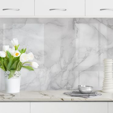 Rivestimento cucina - Effetto marmo bianco e nero