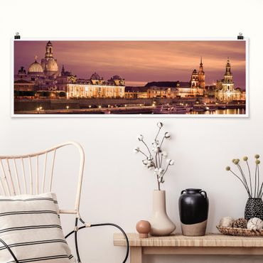 Poster - Canaletto Dresda - Panorama formato orizzontale