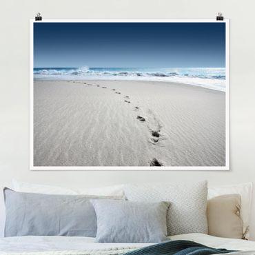 Poster - Tracce nella sabbia - Orizzontale 3:4