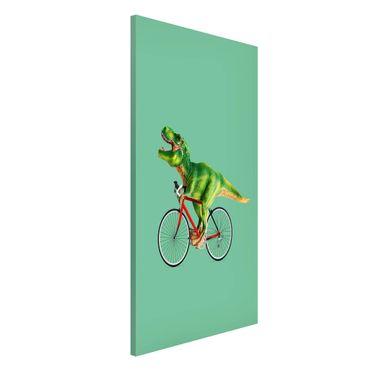 Lavagna magnetica - Dinosauro con la bicicletta - Formato verticale 4:3