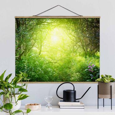 Foto su tessuto da parete con bastone - Sogno Magic Forest - Orizzontale 3:4