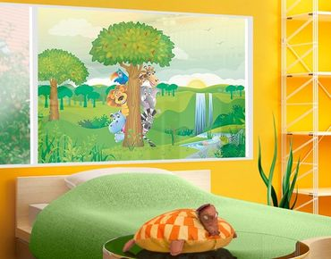Decorazione per finestre no.BF1 Jungle Animals