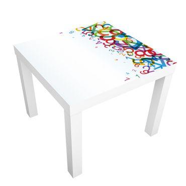 Carta adesiva per mobili IKEA - Lack Tavolino Colourful Numbers