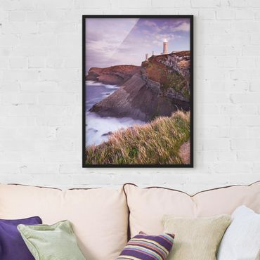 Poster con cornice - Cliffs And Lighthouse - Verticale 4:3