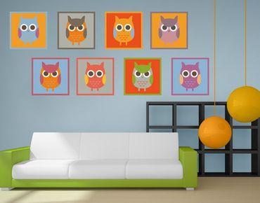 Adesivo murale Owls Sticker Set