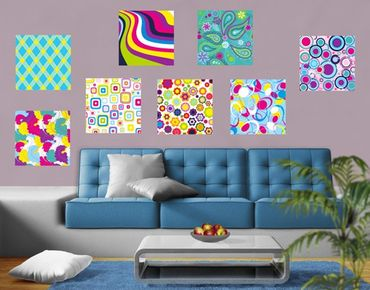 Adesivo murale Retro Pattern Sticker Set