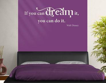 Adesivo murale no.CA31 Dream it II