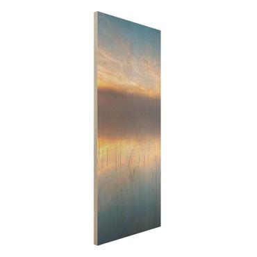 Quadro in legno - Alba Lago svedese - Pannello