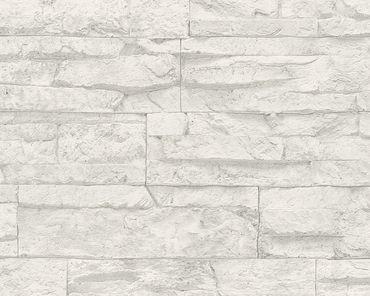 Carta da parati - A.S. Création Best of Wood`n Stone 2nd Edition in Grigio Bianco