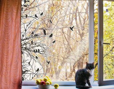 Adesivi da finestra no.742 Branches And Birds In Spring