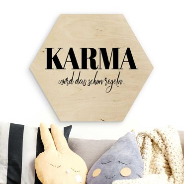 Esagono in legno - Karma è già regolamentata