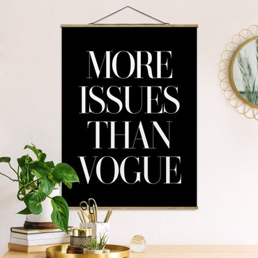 Foto su tessuto da parete con bastone - Più problemi Than Vogue - Verticale 4:3