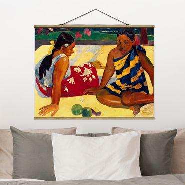 Foto su tessuto da parete con bastone - Paul Gauguin - le donne di Tahiti - Orizzontale 3:4