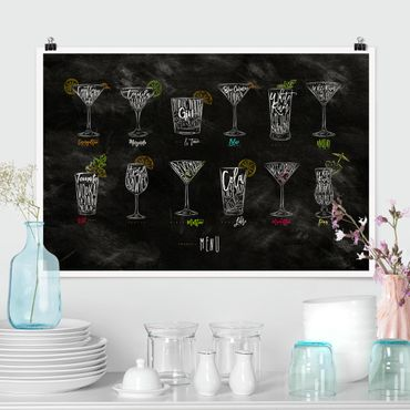 Poster - cocktail Menu - Orizzontale 2:3