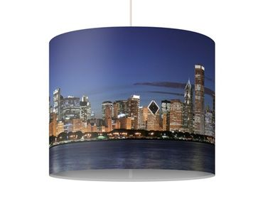 Lampadario design Chicago Skyline By Night