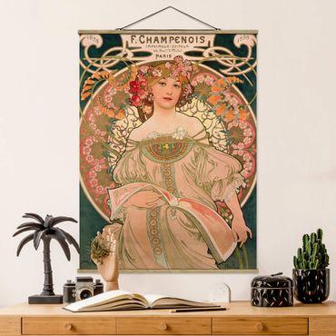 Foto su tessuto da parete con bastone - Alfons Mucha - Poster For F. Champenois - Verticale 4:3