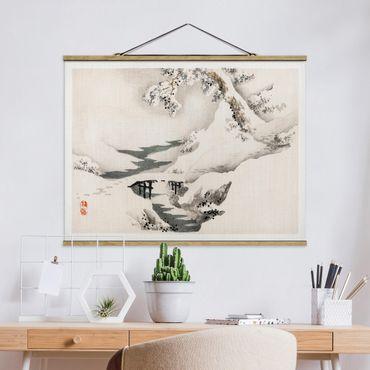Foto su tessuto da parete con bastone - Asian Vintage Paesaggio invernale Disegno - Orizzontale 3:4