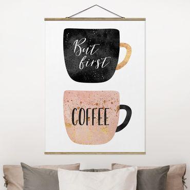 Foto su tessuto da parete con bastone - Elisabeth Fredriksson - Ma prima, caffè - Verticale 4:3