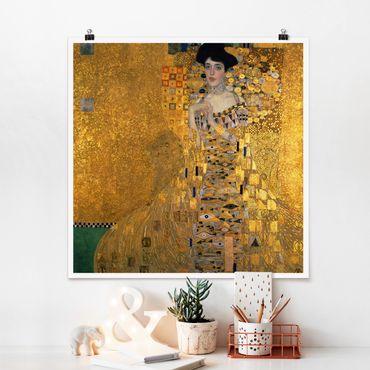 Poster - Gustav Klimt - Ritratto di Adele Bloch-Bauer I - Quadrato 1:1