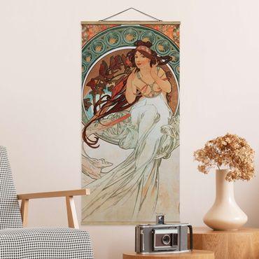 Foto su tessuto da parete con bastone - Alfons Mucha - Quattro arti - Musica - Verticale 2:1