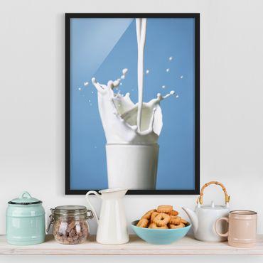Poster con cornice - Milk - Verticale 4:3