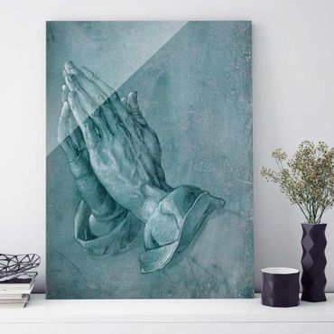 Quadro in vetro - Albrecht Dürer - Studio di mani in preghiera - Verticale 4:3