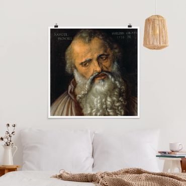 Poster - Albrecht Dürer - L'apostolo Filippo - Quadrato 1:1