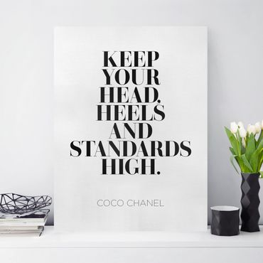 Stampa su tela - Keep Your Head High - Verticale 3:4