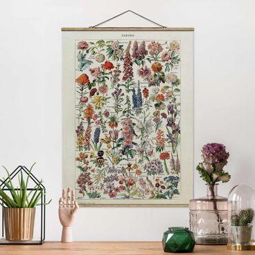 Foto su tessuto da parete con bastone - Vintage Consiglio Fiori V - Verticale 4:3