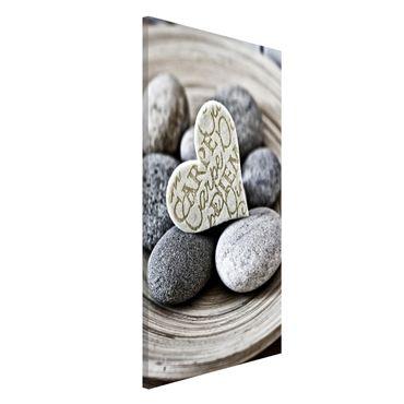 Lavagna magnetica - Carpe Diem di cuore con pietre - Formato verticale 4:3