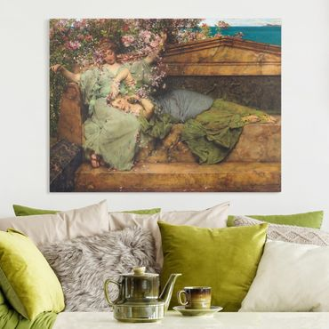 Quadri su tela - Sir Lawrence Alma-Tadema - The Rose Garden