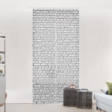Tende scorrevoli set - Brick Tile Wallpaper Black