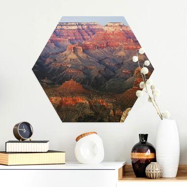 Esagono in Alu-dibond - Grand Canyon dopo il tramonto