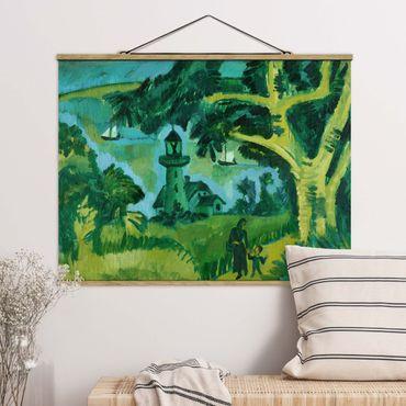 Foto su tessuto da parete con bastone - Ernst Ludwig Kirchner - Faro sul Fehmarn - Orizzontale 3:4