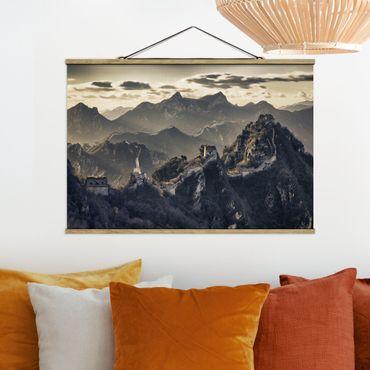 Foto su tessuto da parete con bastone - La Grande Muraglia cinese - Orizzontale 2:3