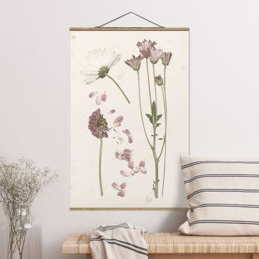 Foto su tessuto da parete con bastone - Herbarium In Pink II - Verticale 3:2