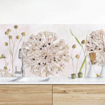 Rivestimento cucina - Allium E Helenium Illustrazione