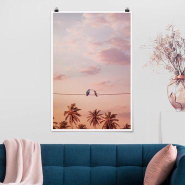 Poster - Jonas Loose - Tramonto Con Hummingbird - Verticale 3:2