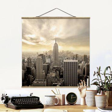 Foto su tessuto da parete con bastone - Manhattan Alba - Quadrato 1:1