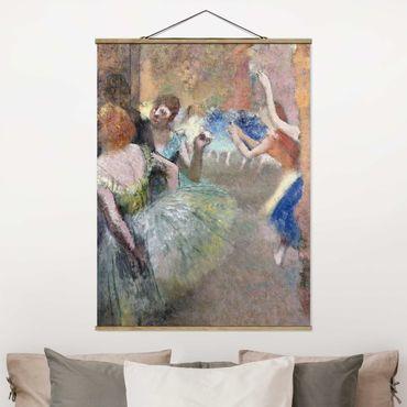 Foto su tessuto da parete con bastone - Edgar Degas - Scene Ballet - Verticale 4:3