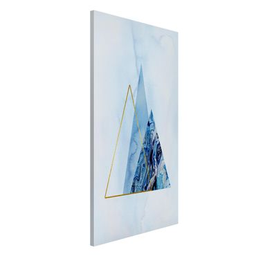Lavagna magnetica - Geometria di blu e oro II - Formato verticale 4:3