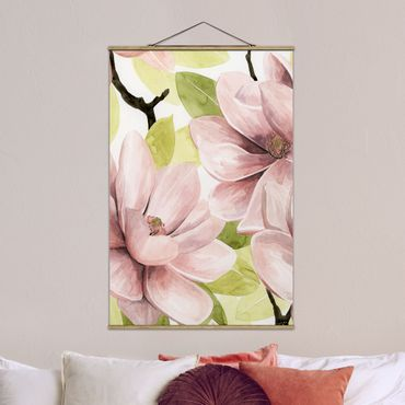 Foto su tessuto da parete con bastone - Magnolia Blush II - Verticale 3:2