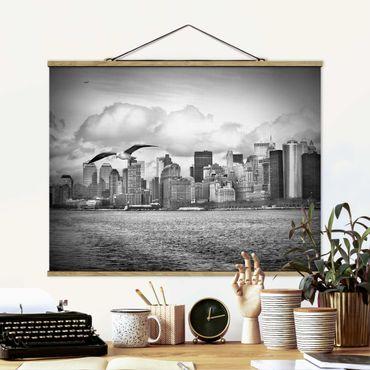 Foto su tessuto da parete con bastone - No.Yk1 New York II - Orizzontale 3:4