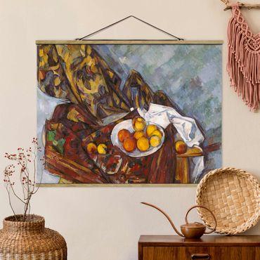 Foto su tessuto da parete con bastone - Paul Cézanne - Natura morta di frutta - Orizzontale 3:4